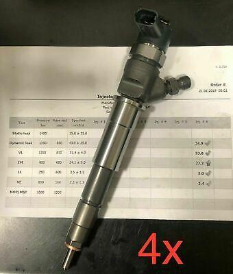 4x Injektor Opel Vivaro Renault Master 2,0 + 2,3 CDTI 0445110338 0445110375